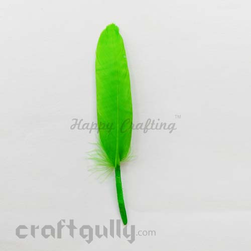 Feathers #2 80mm - Light Green - Pack of 2