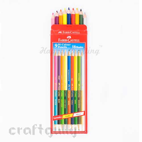 Faber-Castell 9 Bi-colour Pencils Pack - 18 shades