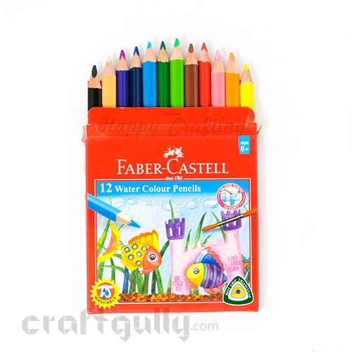 Faber-Castell 12 Water Colour Pencils - School Pack