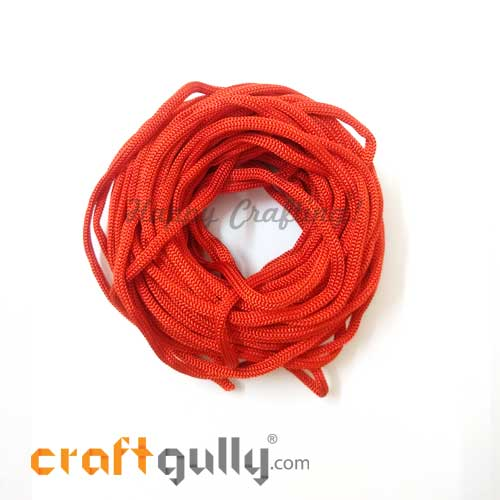 Cords - 3mm Nylon - Macrame - Red #2 - 10 meters
