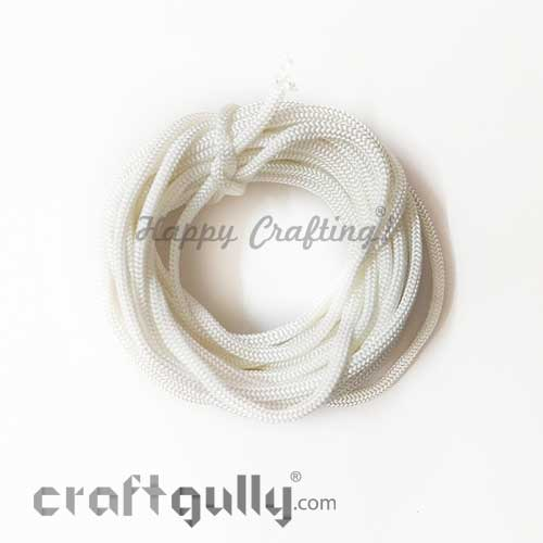 Cords - 3mm Nylon - Macrame - White - 10 meters