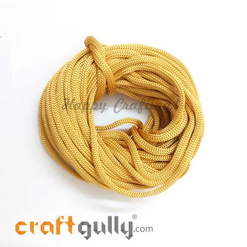 Cords - 3mm Nylon - Macrame - Golden - 10 meters