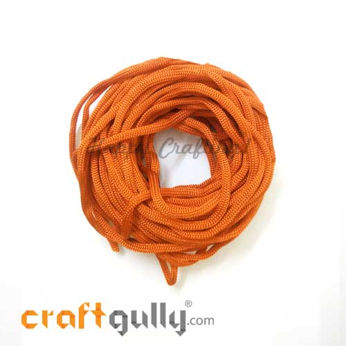 Cords 3mm Nylon - Macrame - Orange - 10 meters