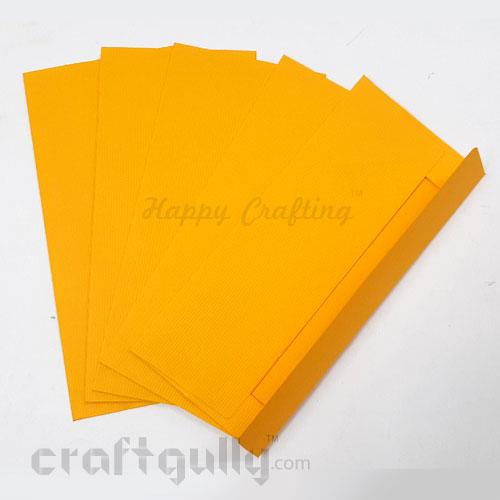 Shagun Envelopes 172mm - Textured Golden Yellow - Pack of 5
