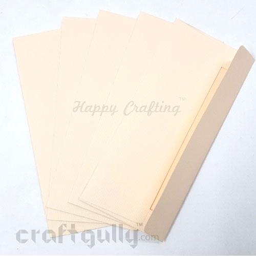 Shagun Envelopes 172mm - Textured Cream - Pack of 5