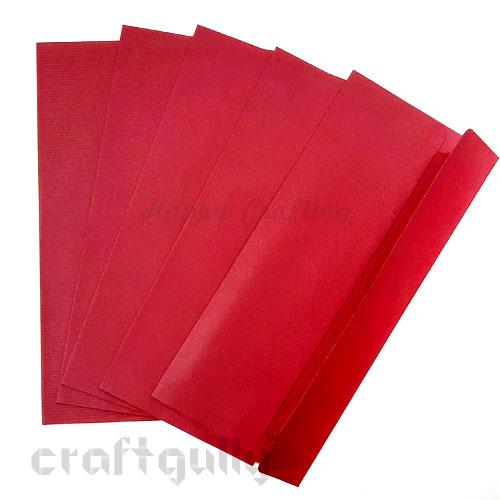 Shagun Envelopes 185mm - Textured Maroon - Pack of 5