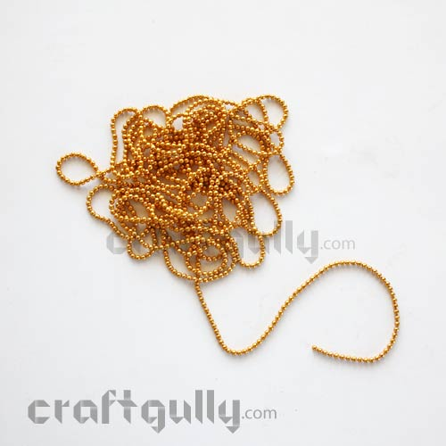 Ball Chain 1mm - Golden Color - 9 Feet