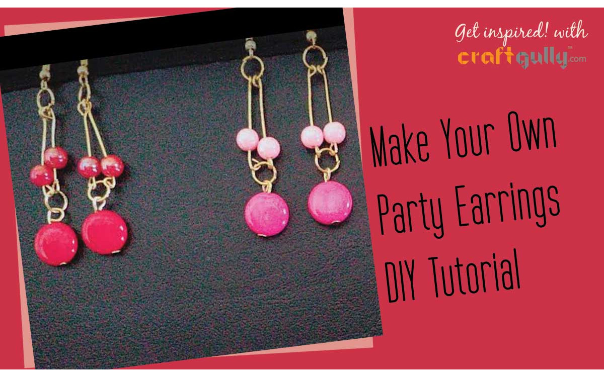 Make Your Own Party Earrings - A Photo Tutorial