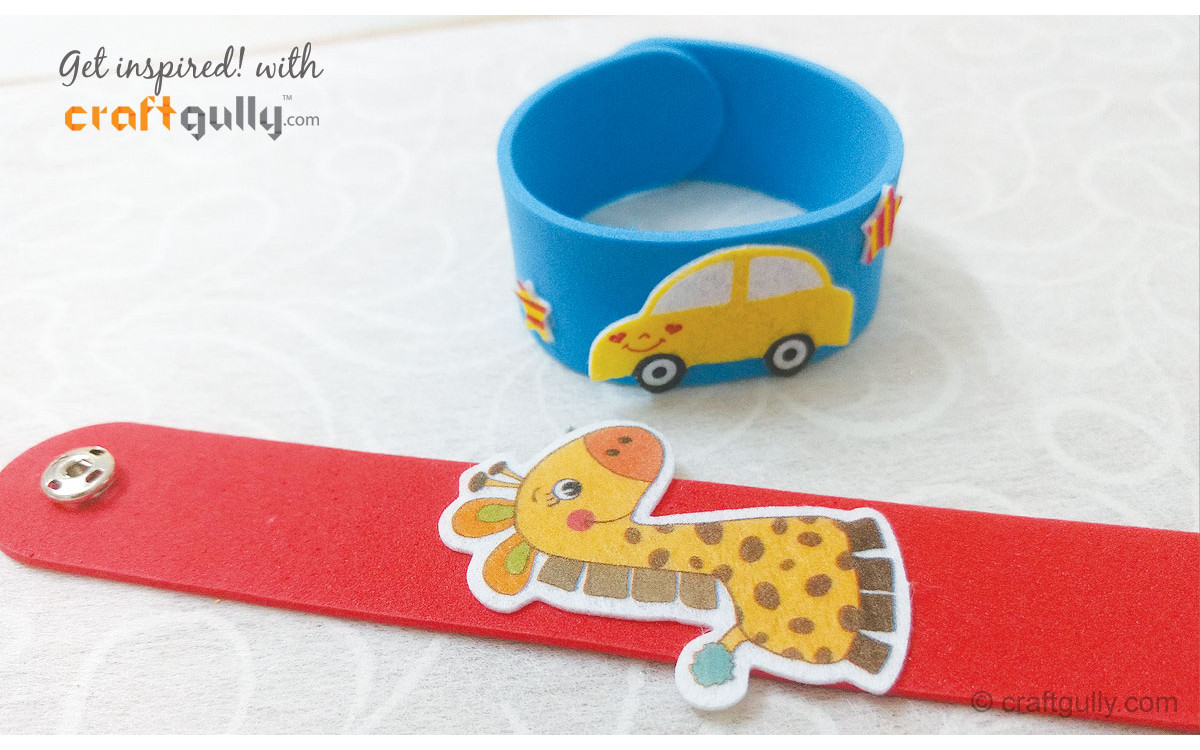 Foam Stick Wrist Bands Make For Great Rakhis! - A Video Tutorial