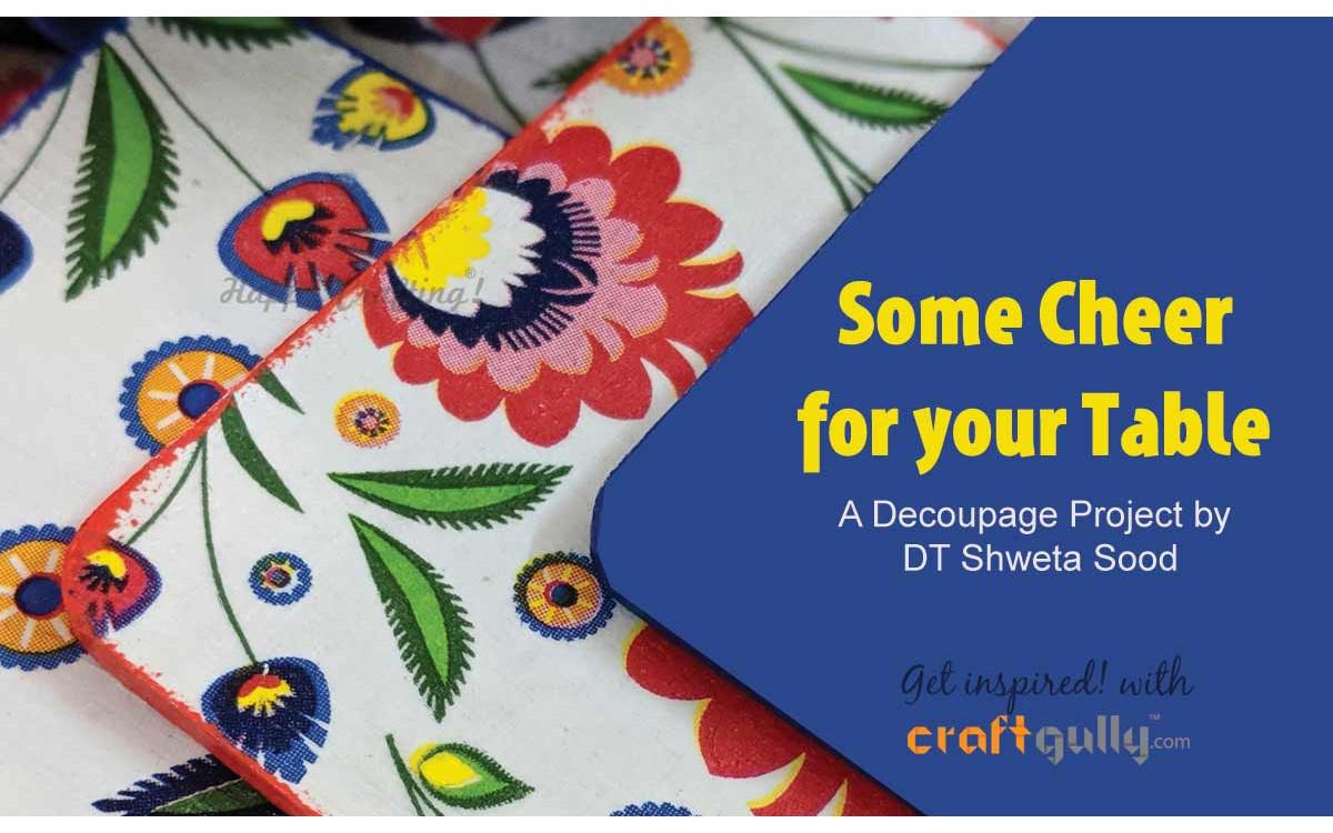 Cheerful Decoupaged Coasters