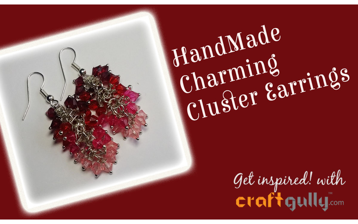 Handmade Charming Cluster Earrings