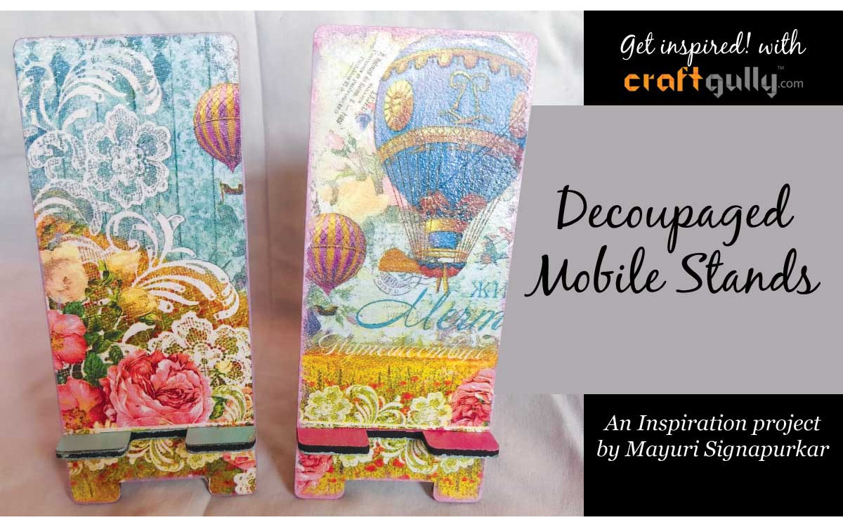 Decoupaged Mobile Stand