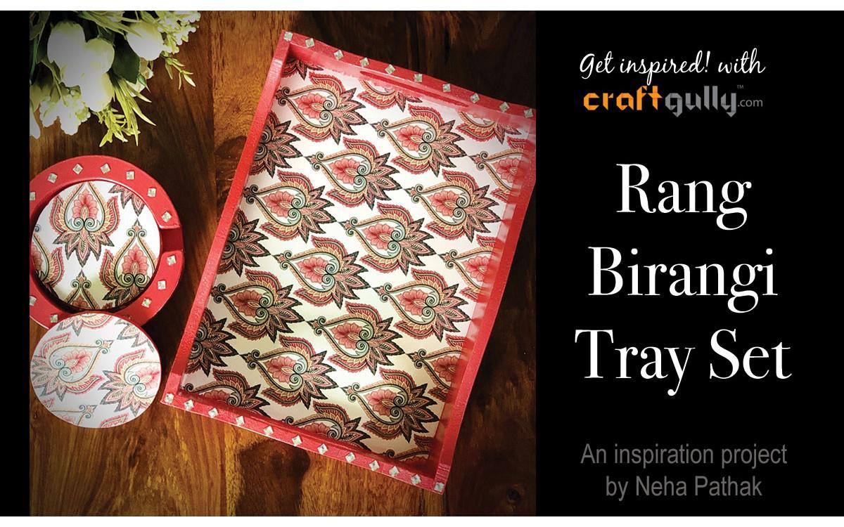 Rang Birangi Tray Set