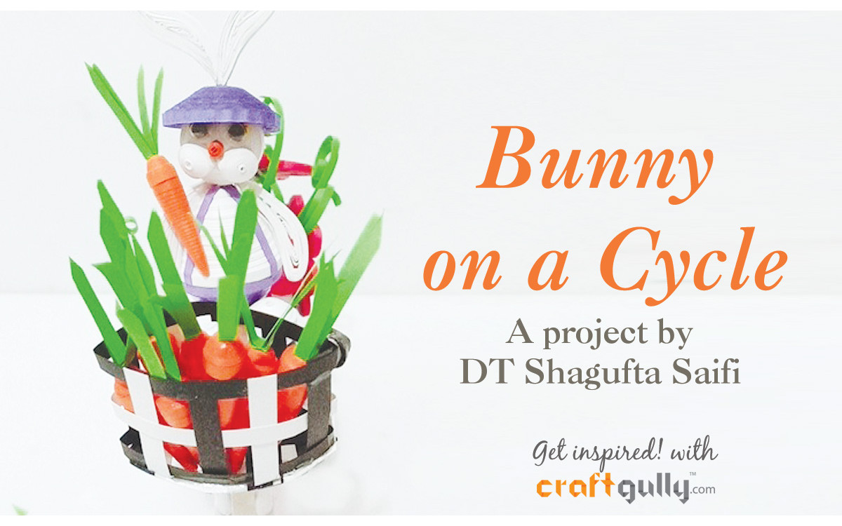 Easter Bunny On A Cycle