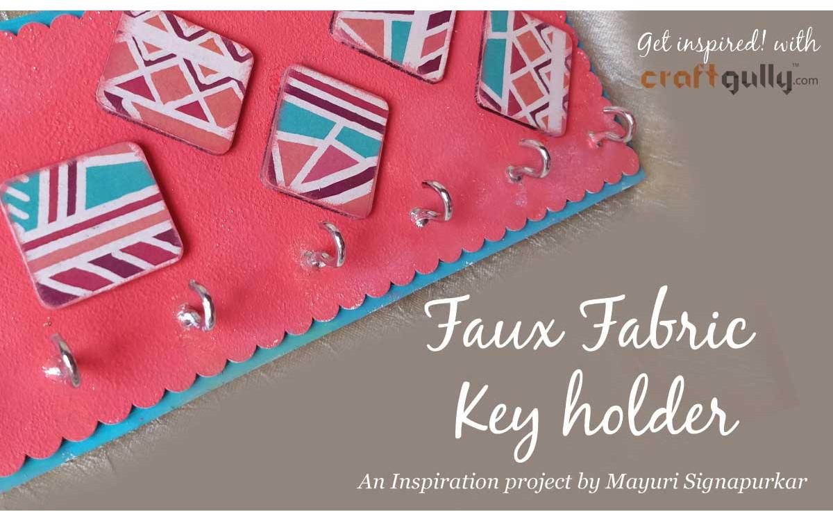 Faux Fabric Key Holder