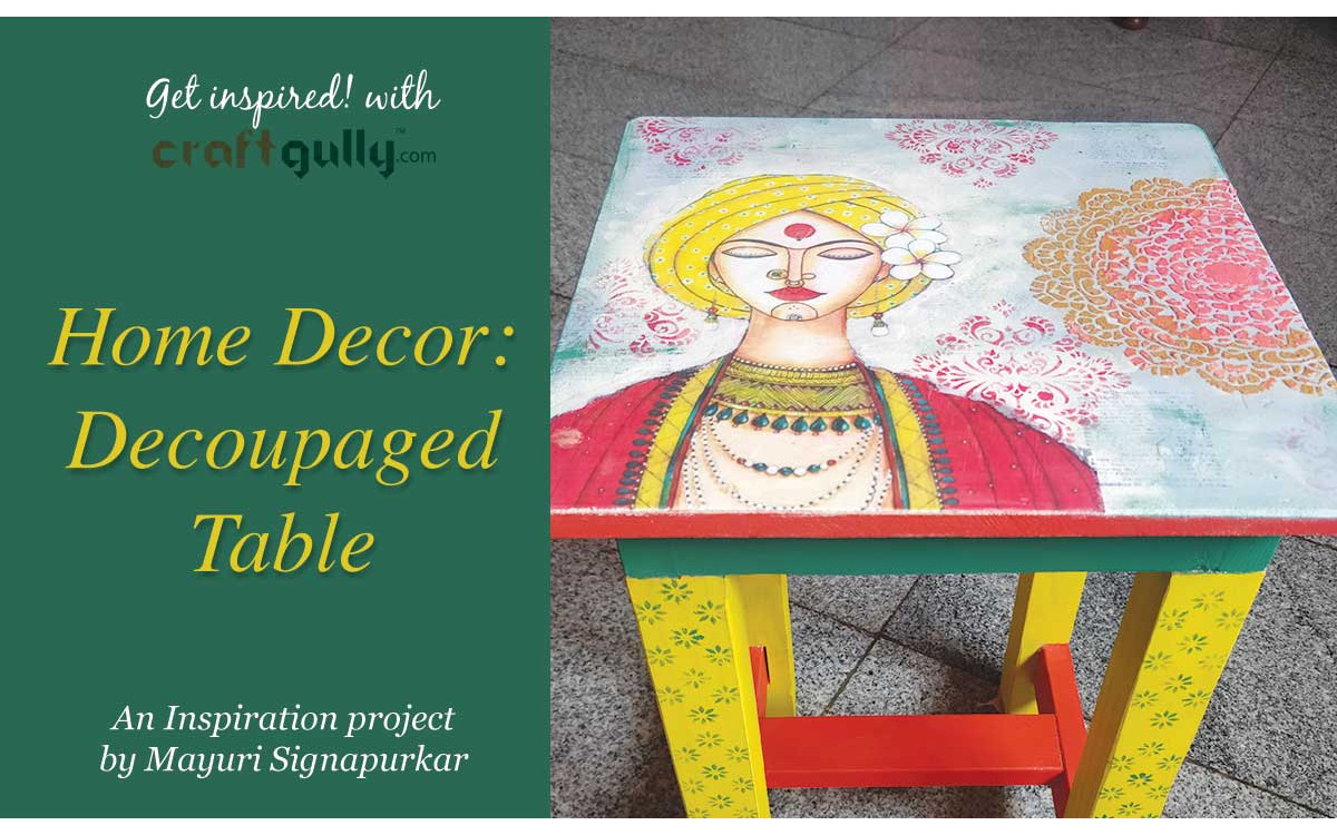 Home Decor: Decoupaged Table