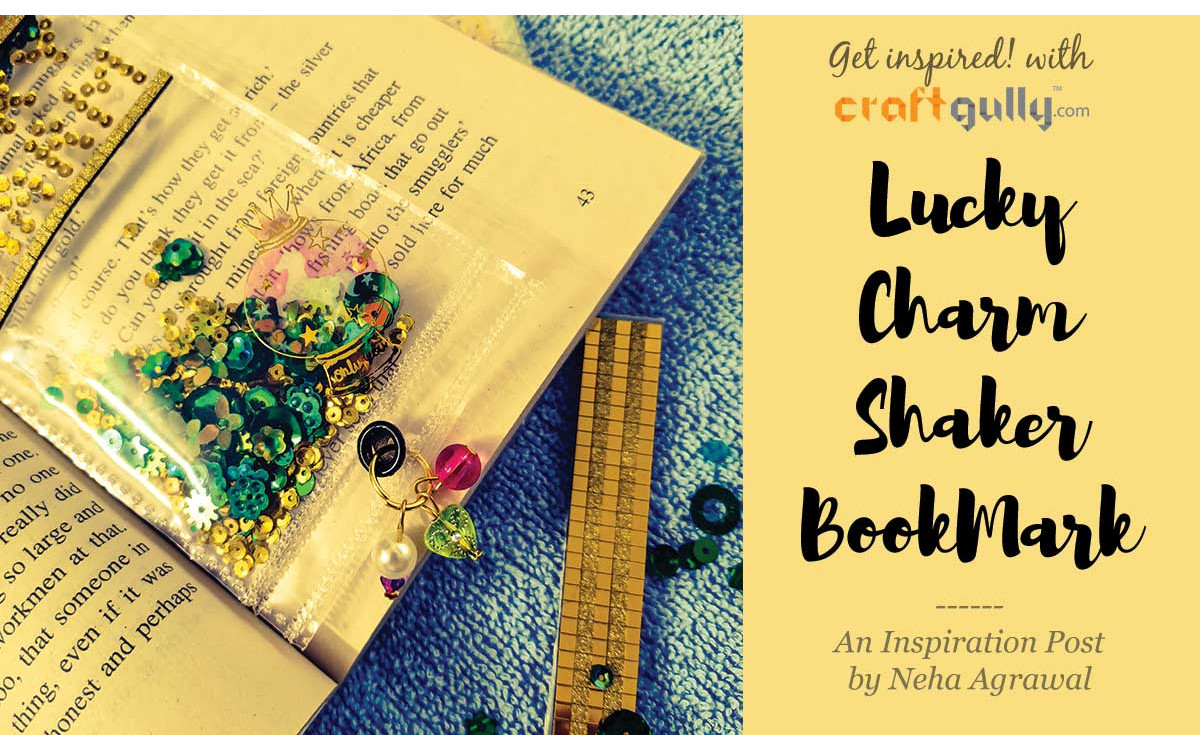 Lucky Charm Shaker Bookmark With Danglers