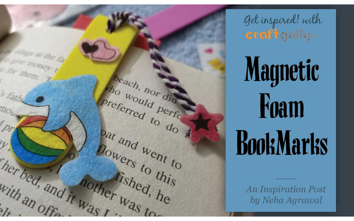Magnetic Bookmarks With Foam Sticks
