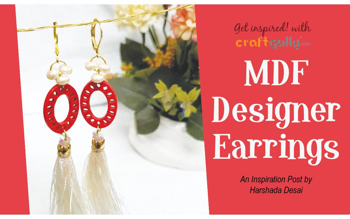 MDF Designer Earrings