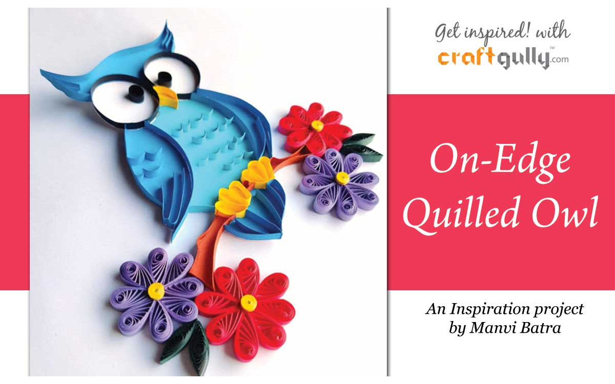 On-Edge Quilled Owl