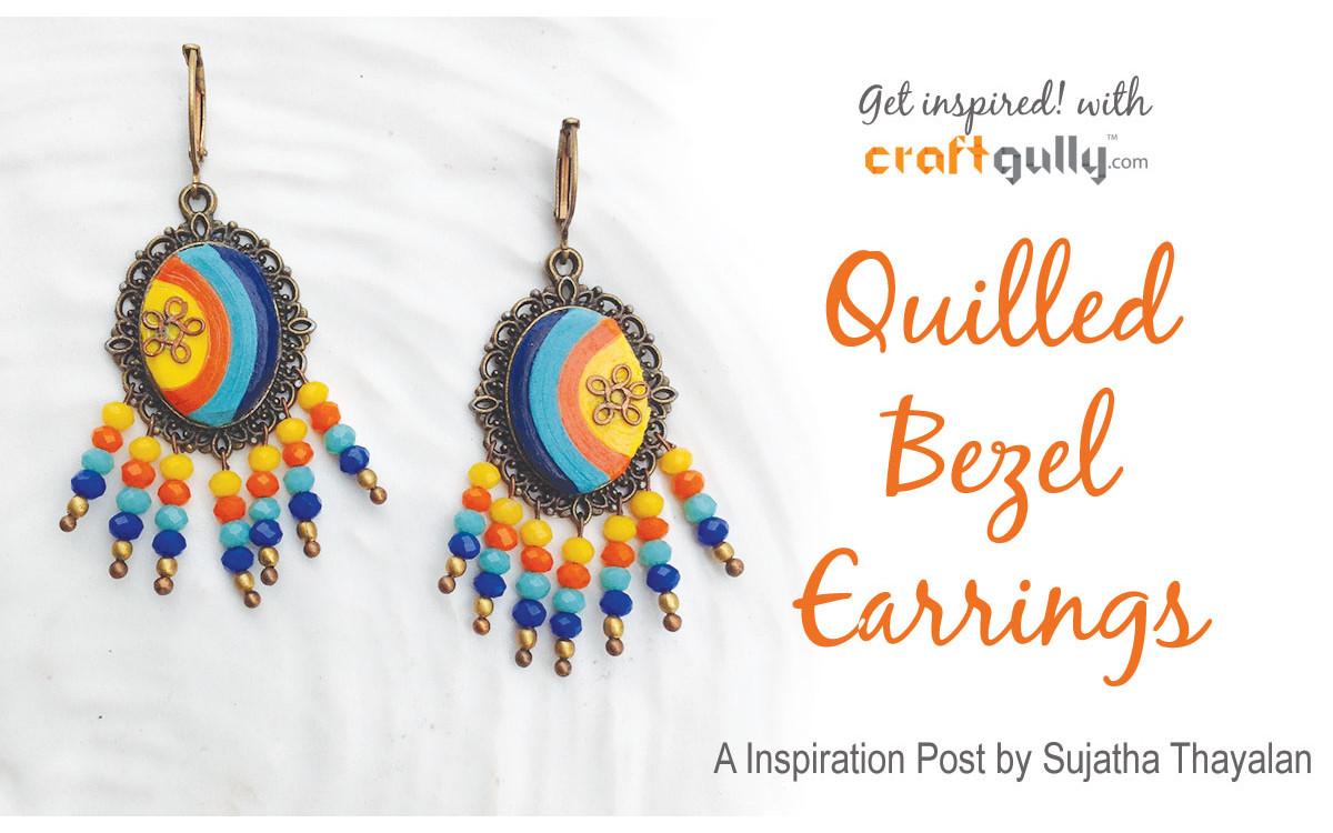 Quilled Bezel Earrings