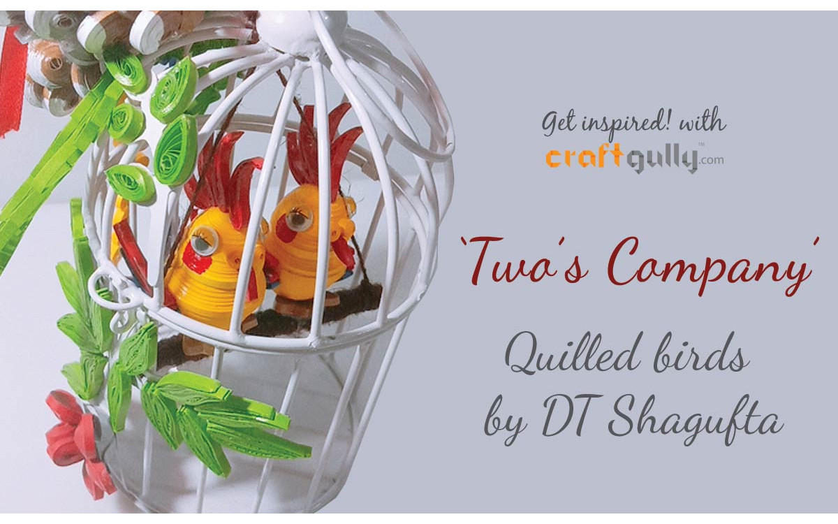 Quilled Birds In A Cage