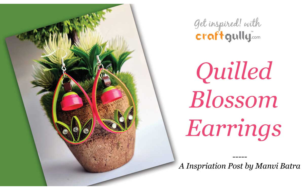 Quilled Blossom Earrings