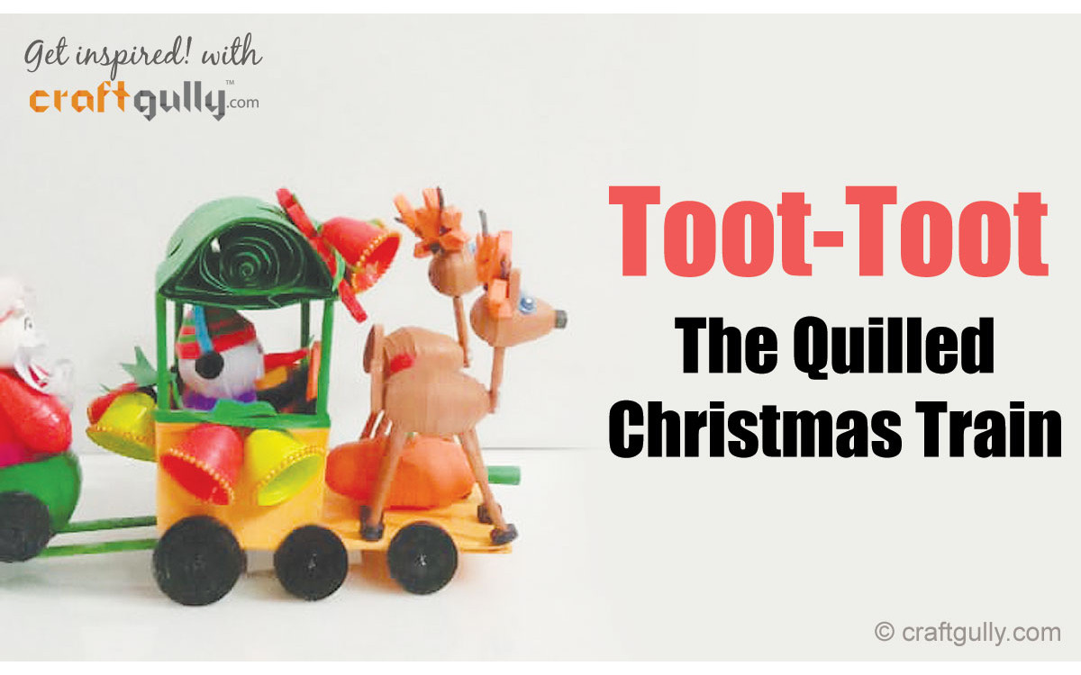 The Quilled Christmas Train