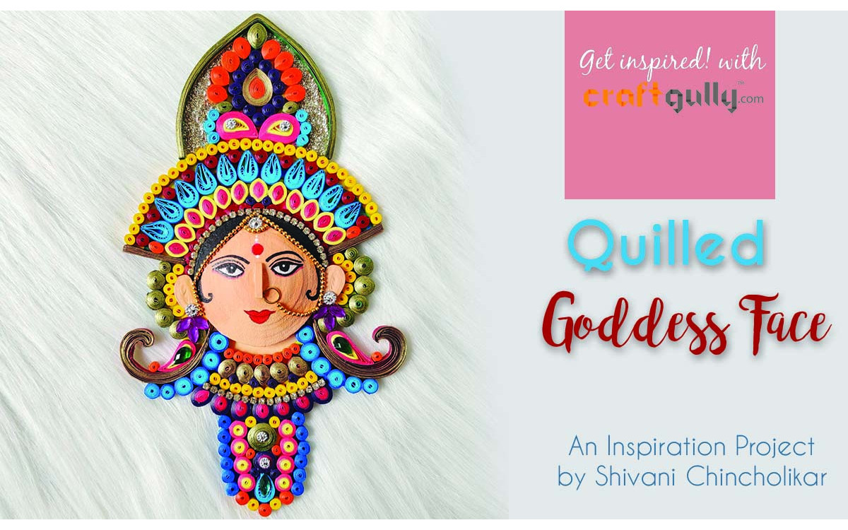 Quilled Goddess Face
