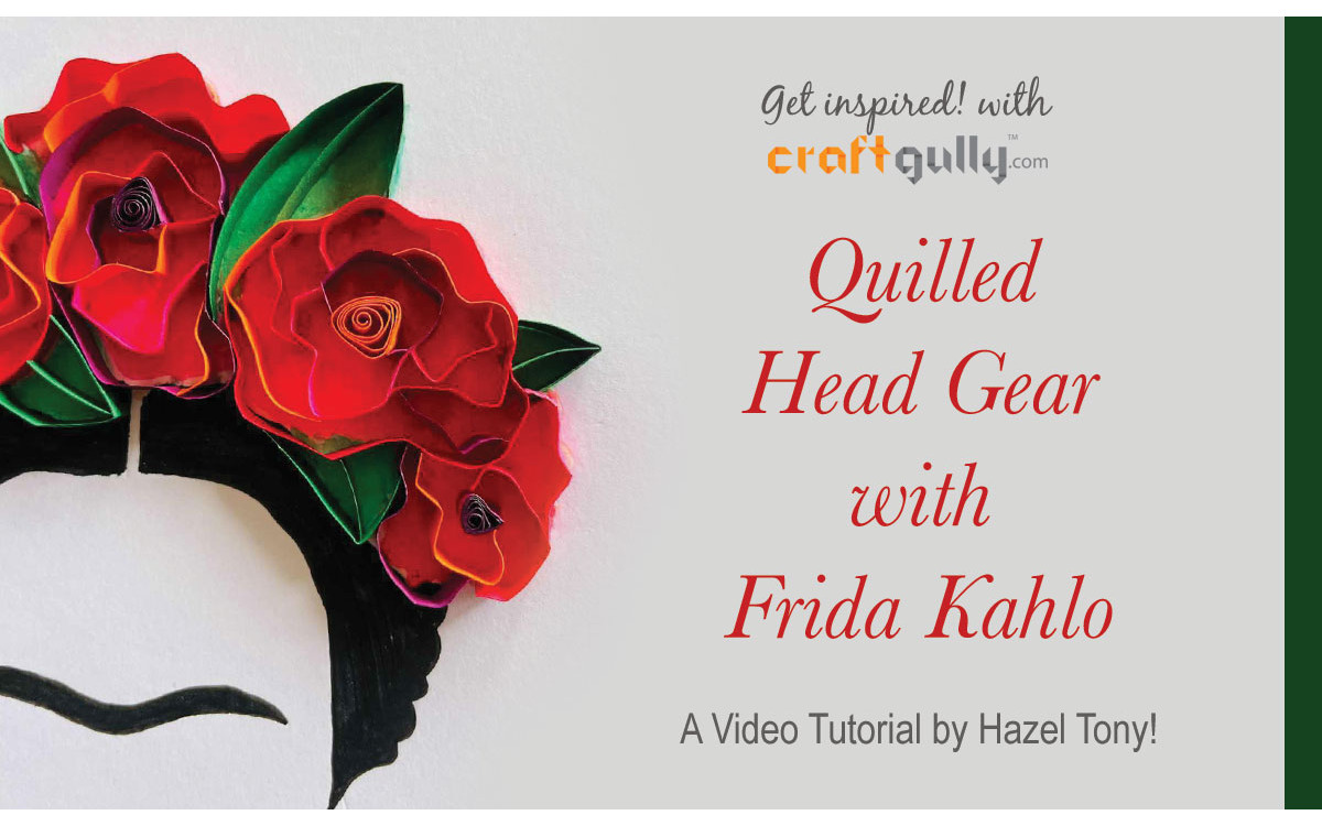 Quilled Head Gear With Frida Kahlo