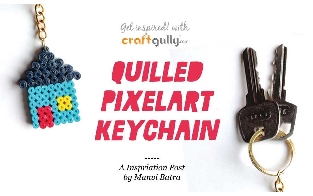 Quilled Pixelart Keychain