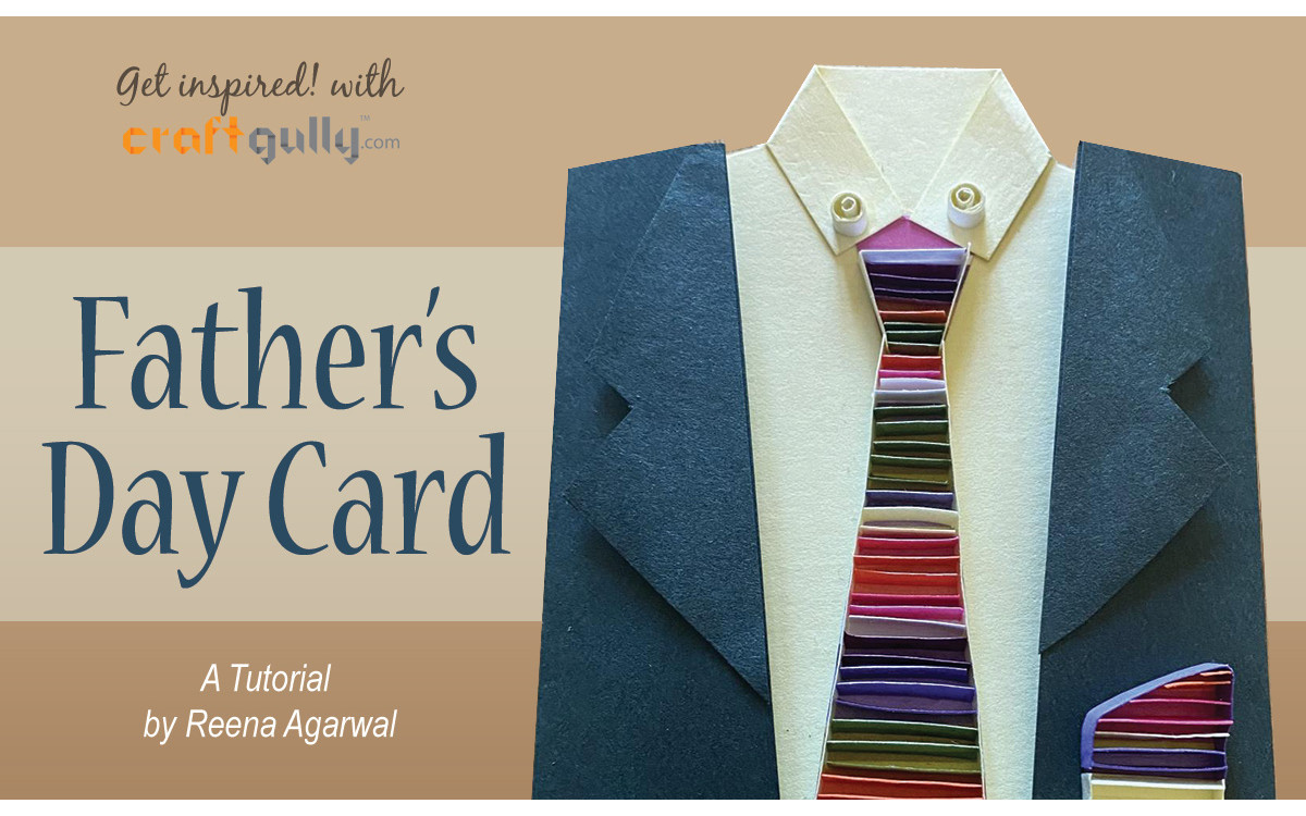 Quilled Suit Card For Father's Day
