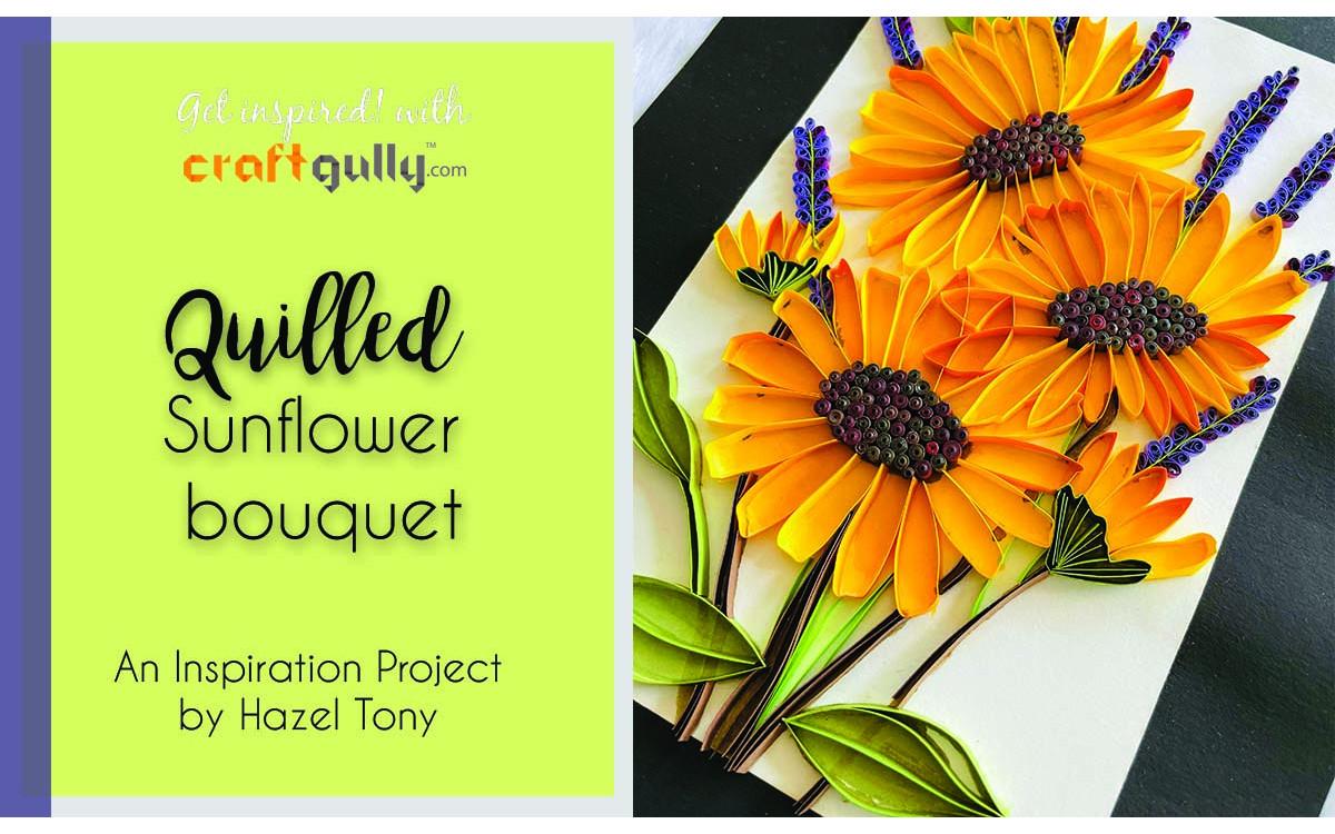Quilled Sunflower Bouquet