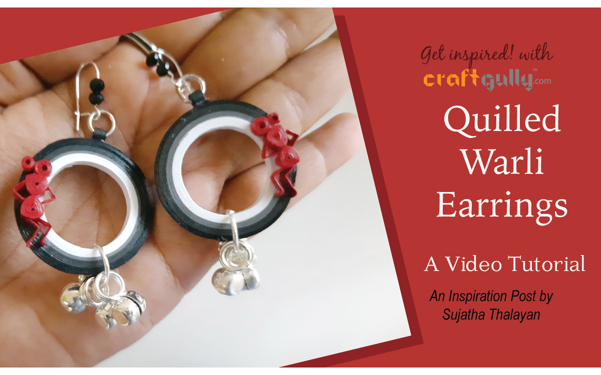Quilled Warli Earrings