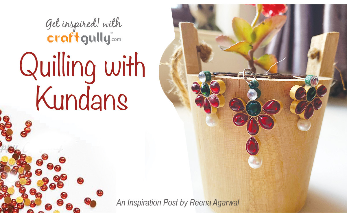 Quilling With Kundans