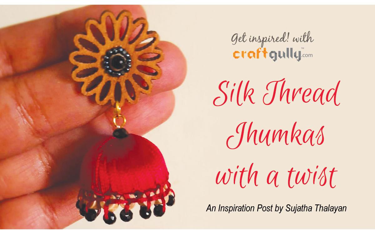 Silk Thread Jhumkas With A Twist