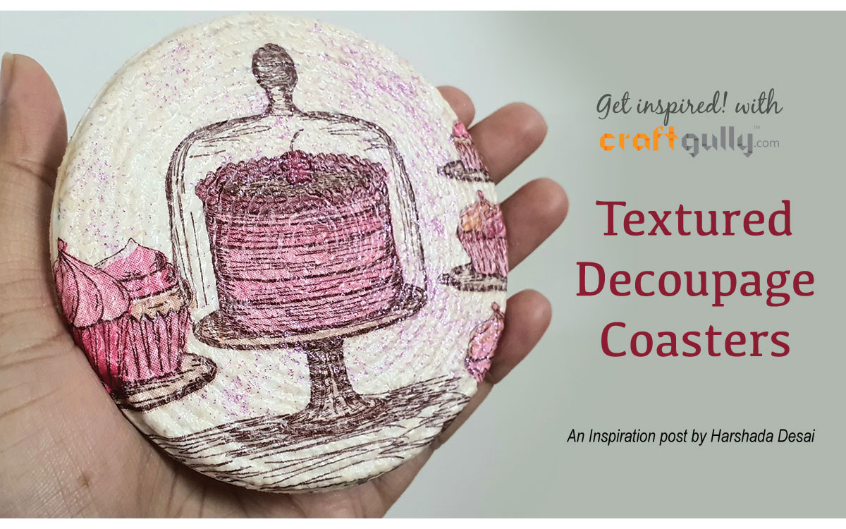 Textured Decoupage Coasters