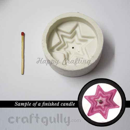 Candle Mould - Floating - Star