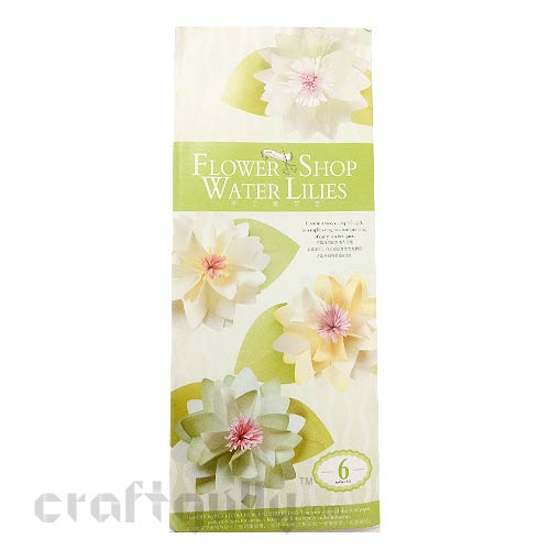 Paper Flower Kits #5 - Water Lilies - Make 6 Flowers
