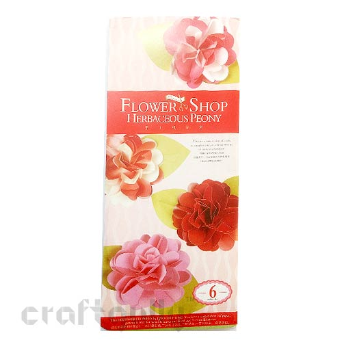 Paper Flower Kits #7 - Herbaceous Peony - Make 6 Flowers