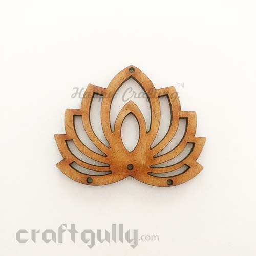 Laser Cut MDF Elements #19 - Lotus - Pack of 1