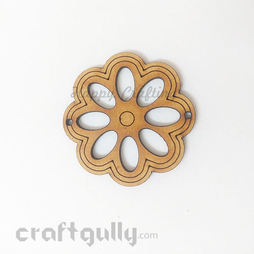 Laser Cut MDF Elements #16 - Flower - Pack of 1