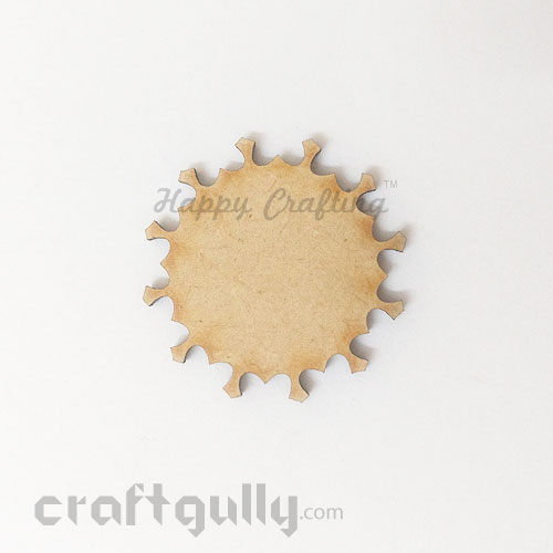 Laser Cut MDF Elements #27 - Sun - Pack of 1