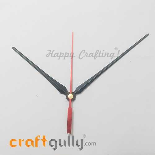 Clock Hands #1 - Black & Red - Set Of 3 Hands