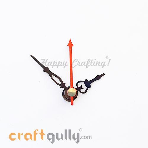 Clock Hands #2 - Black & Red - Set Of 3 Hands