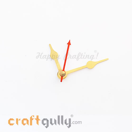 Clock Hands #3 - Golden & Red - Set Of 3 Hands