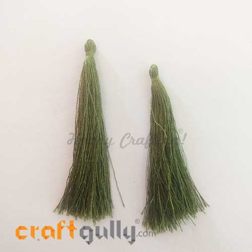 Tassels 70mm - Army Green - Pack of 2