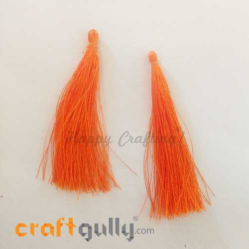 Tassels 70mm - Orange - Pack of 2