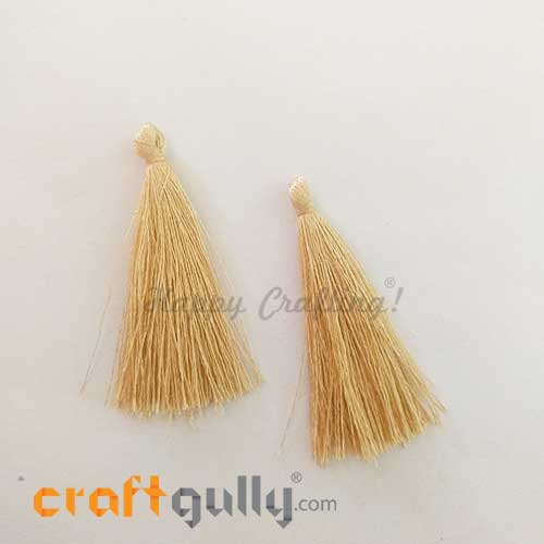 Tassels 50mm - Light Golden - Pack of 2