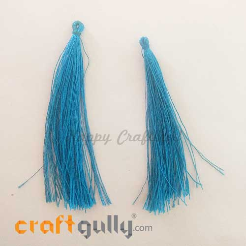Tassels 88mm - Sea Blue - Pack of 2